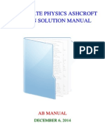 Solid State Physics Ashcroft Mermin Solution Manual