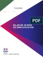 Dossier de presse - bilan de 18 mois de simplification