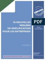 Dossier de presse - 50 nouvelles mesures de simplification