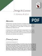 Monicion III Domingo Cuaresma