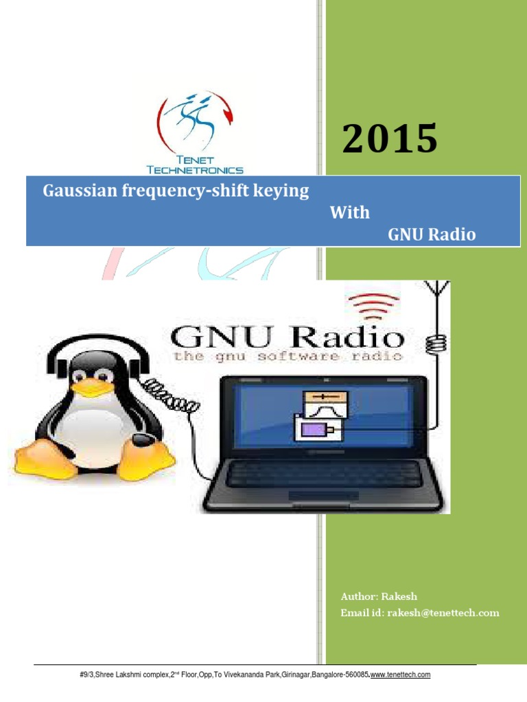 Gaussian Frequency-shift Keying With GNU Radio | Modulation