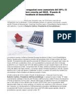 Mutui 2015 Il Punto Di Roberto Carlino Presidente Di Immobildream