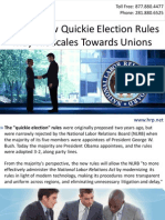 NLRB's New Quickie Election Rules May Tilt Scales Towards Unions