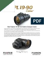 Fujinon PL19-90 Spec Sheet HiRes
