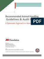 Animal Handling Guidelines July 2013 Rev.1