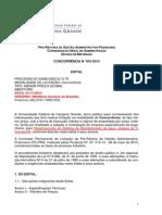 Concorrencia n 001-2013 - Reestruturacao Do Sistema de Abastecimento de Agua- c - Campus de c. Grande