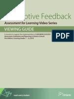 Viewing Guide Feedback Afl Video Series