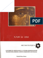 Contribuții arheologice la istoria românilor din Transilvania