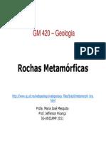 -GM 420 Rochas Metamorficas