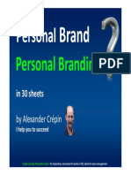 Personal Branding Personal Branding Overview in 30 Sheets by Allexander Crepin