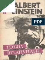 Albert Einstein-Teoria Relativitatii