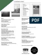 Duke University Press program ad for the College Art Association conference 2015