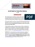Acceptance of the Deed-process Manual v 3.0