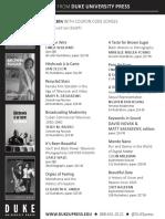 Duke University Press program ad for the Society for Cinema and Media Studies conference 2015