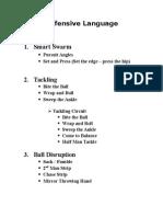 Defensive Postional Drills