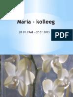 Maria Tilk - in memory