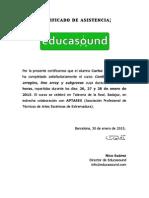 Certificado de asistencia_Arreglos Line Array y Subs
