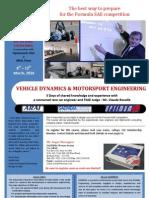 Brochure_ARAI Certificate Course_Vehicle Dynamics & Motor Sport Engineering