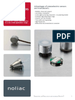 Noliac Sensors and Tansducers Datasheet
