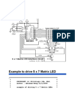 Example to Drive 5 x 7 Matrix LED