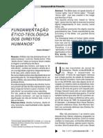 A Bíblia e a Fundamentação Ético-teológica Dos Direitos Humanos Inácio Strieder