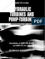 ASME PTC 18 - Hydraulic Turbines and Pump-Turbines - 2002-D