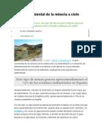 Impacto Ambiental de La Mineria a Cielo Abierto