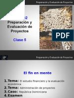 MM2202 Clase 5 Preparacion y Evaluacion de Proyectos