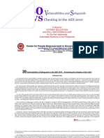 30 Vulnerabilities and Safeguards vs Cheating in AES 2010