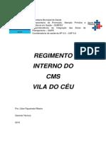 Regimento Interno CMS Vila Do Céu 2015
