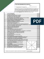 TPG Test y Plantilla de Calificación