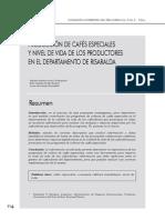 Produccion de Cafes Especiales y Nivel de Vida de Los Productores