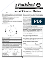 Applications of Circular Motion