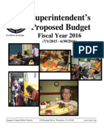 FY16 Proposed Fauquier School Budget