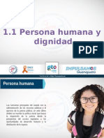 Subtema 1.1. Persona Humana y Dignidad