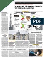 Déficit de antenas empaña competencia vigorosa en telecomunicaciones