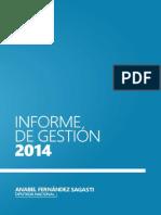 Informe de Gestión 2014 - Anabel Fernández Sagasti (1)