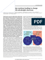 Mapping molecular motions leading to charge delocalization with ultrabright electrons
