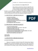 Tema 11. Arquitectura y Urbanismo en Los Siglos XIX y XX
