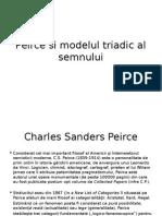 charles sanders pierce si modelul triadic al semnului