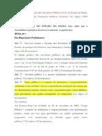 Lei 6677-94 - Estatuto Dos Servidores Públicos Civis Do Estado Da Bahia