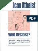 American Atheist Magazine July 1989
