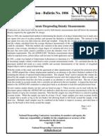 GI1006 Ensuring Accurate Fireproofing Density Measurements