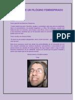 POEMAS DE UN FILÓGINO FEMINSPIRADO
