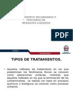 Tratamiento secundario y terciario de residuos liquidos.pptx