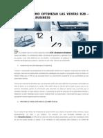 Conozca Como Optimizar Las Ventas b2b-Business to Business