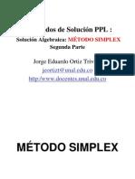 03C SolucionAlgebraicaMetodo SIMPLEX ProgramacionLineal JorgeOrtiz