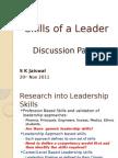 Skills of a Leader-presentation by S K Jaiswal