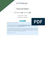 Cours Python Uni Paris7 2