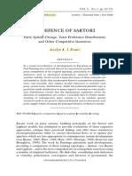 In Defense of Sartori
